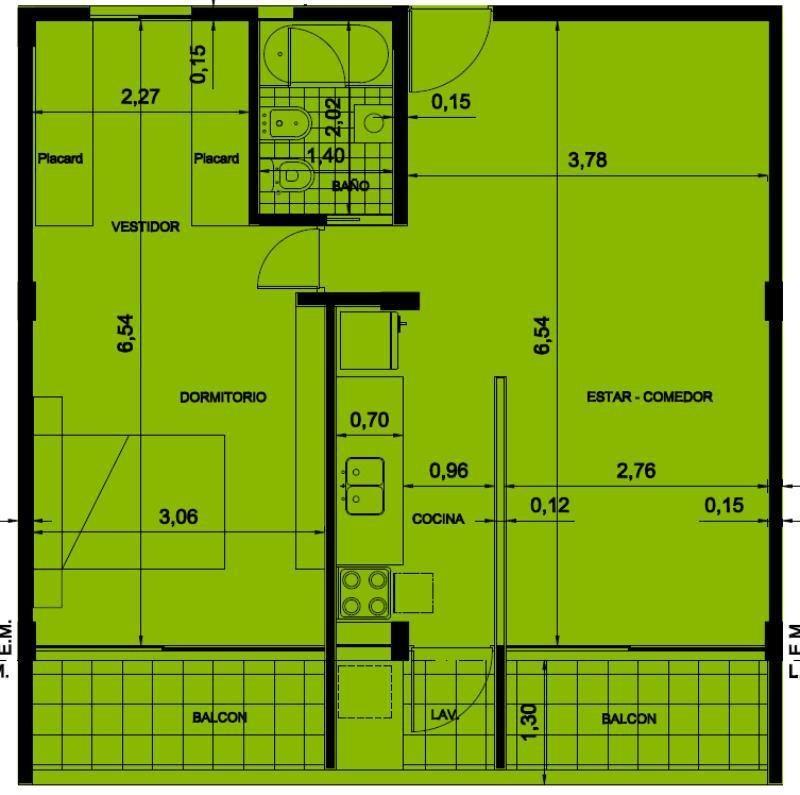 venta departamento 2 dorm en construcción 59 e 9 y 10