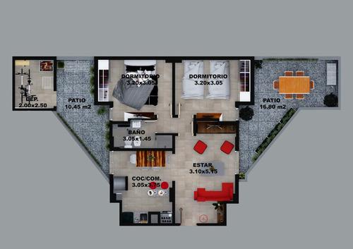 venta - departamento 2 dormitorios alberdi