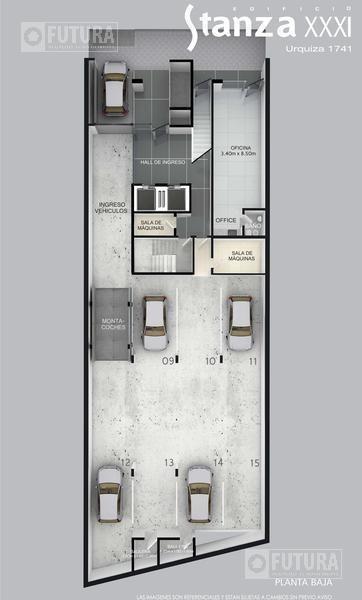 venta departamento 2 dormitorios - urquiza 1741 - centro rosario