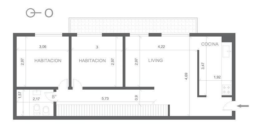 venta - departamento 3 amb 67m2 - parque patricios