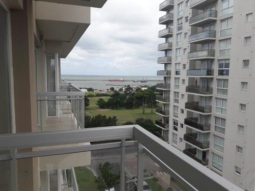 venta departamento 3 amb amplia vista lateral al mar