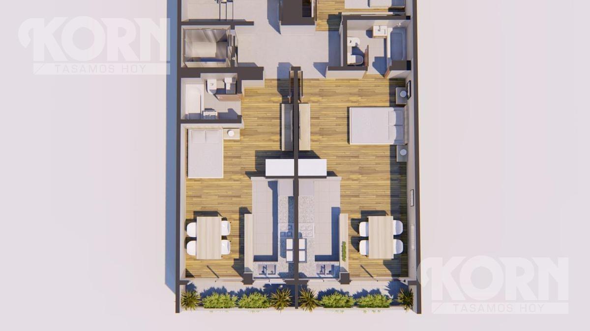 venta departamento 3 ambientes con balcon terraza  - construccion en villa del parque