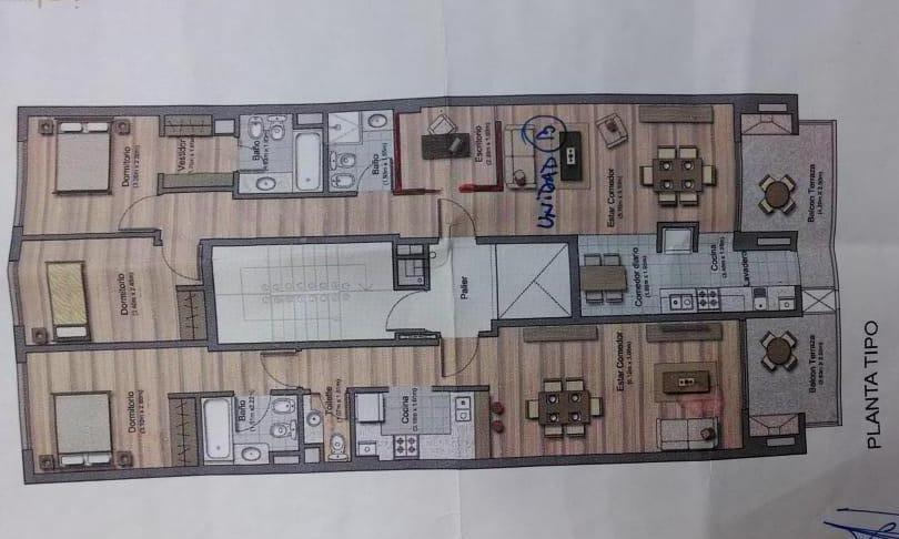 venta departamento 3 ambientes frente balcon - colegiales