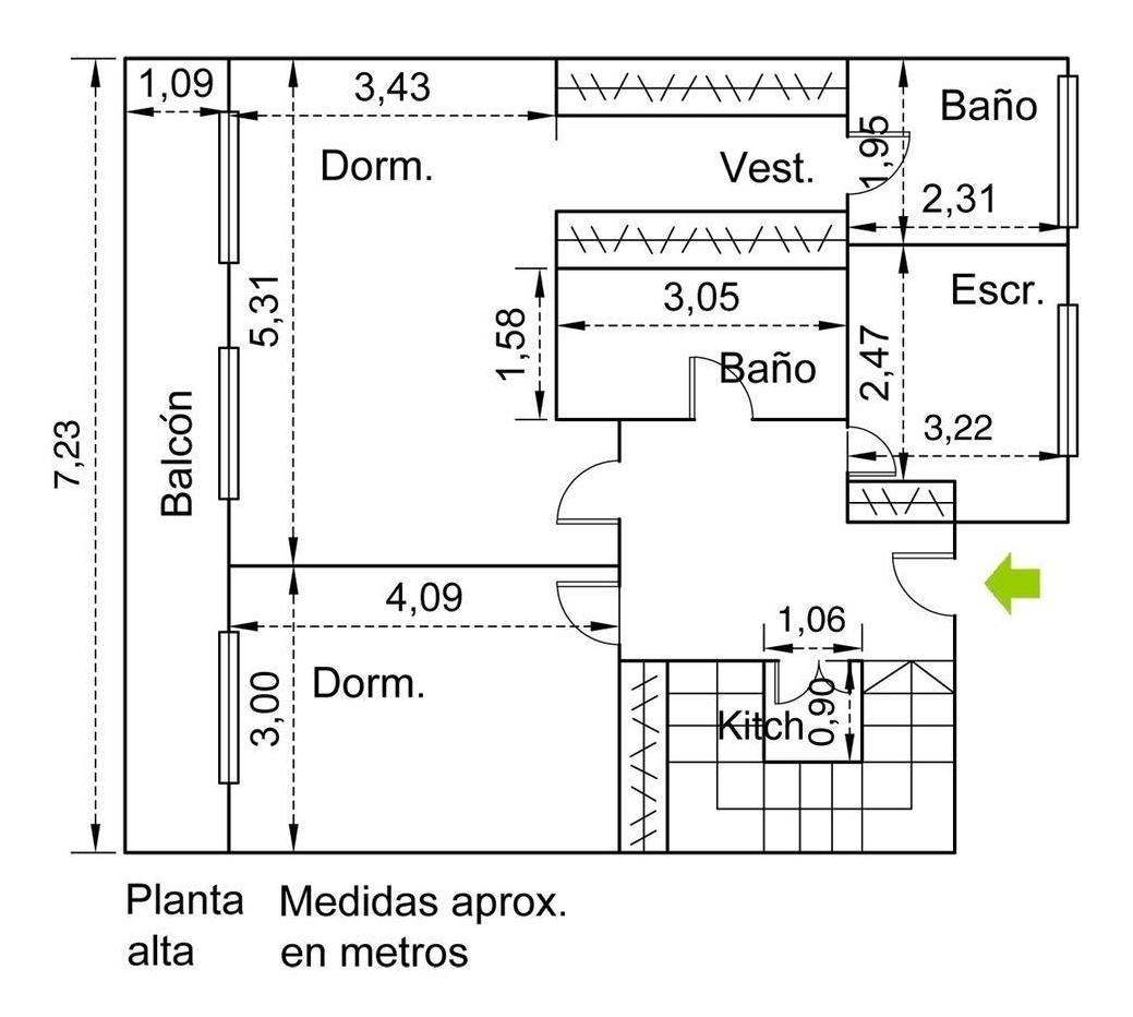 venta departamento 4 ambientes c/depend. cochera fija.dúplex. belgrano r.