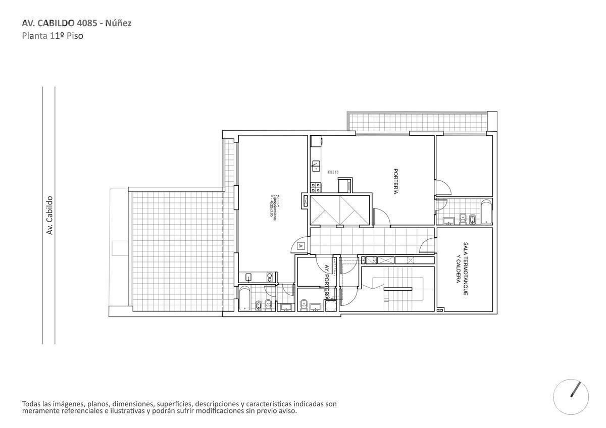 venta departamento de 1 ambiente apto profesional, en construccion en nuñez
