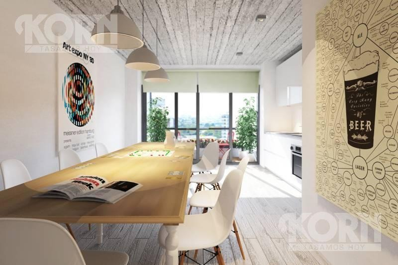 venta departamento de 1 ambiente con terraza en palermo hollywood - en construccion