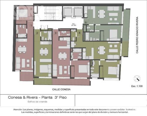 venta departamento de 1 ambiente en belgrano - en construccion