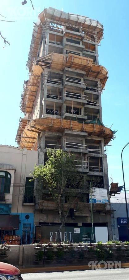 venta departamento de 1 ambiente en paternal - en construccion