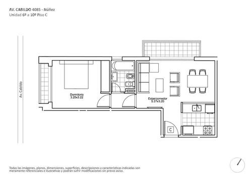 venta departamento de 2 ambientes apto profesional, en construccion en nuñez