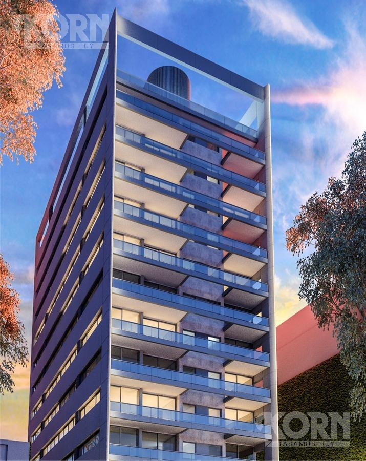 venta departamento de 2 ambientes con balcon terraza en edificio torre belgrano - en construccion