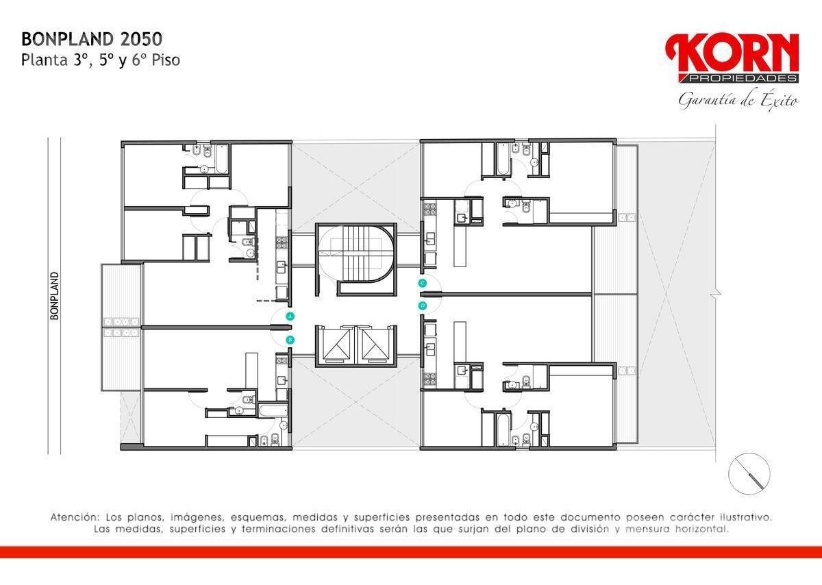 venta departamento de 2 ambientes con balcon terraza en palermo hollywoood - proximo a estrenar