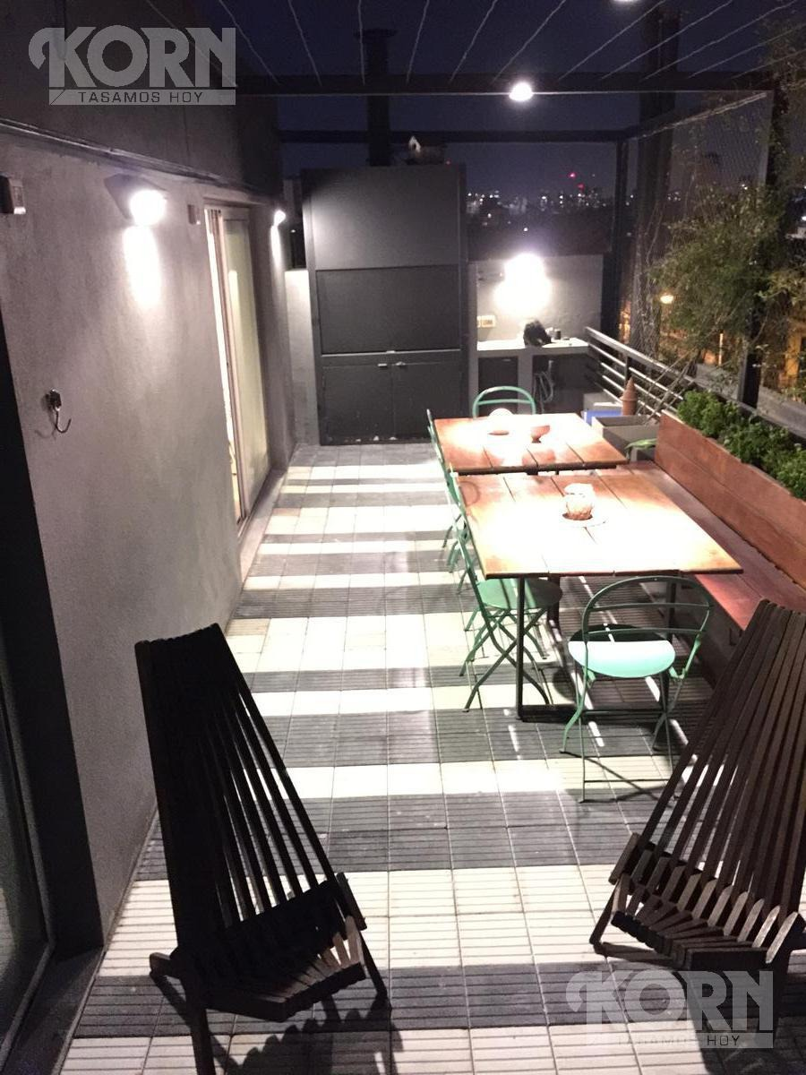 venta departamento de 2 ambientes con terraza con parrilla y cochera en colegiales