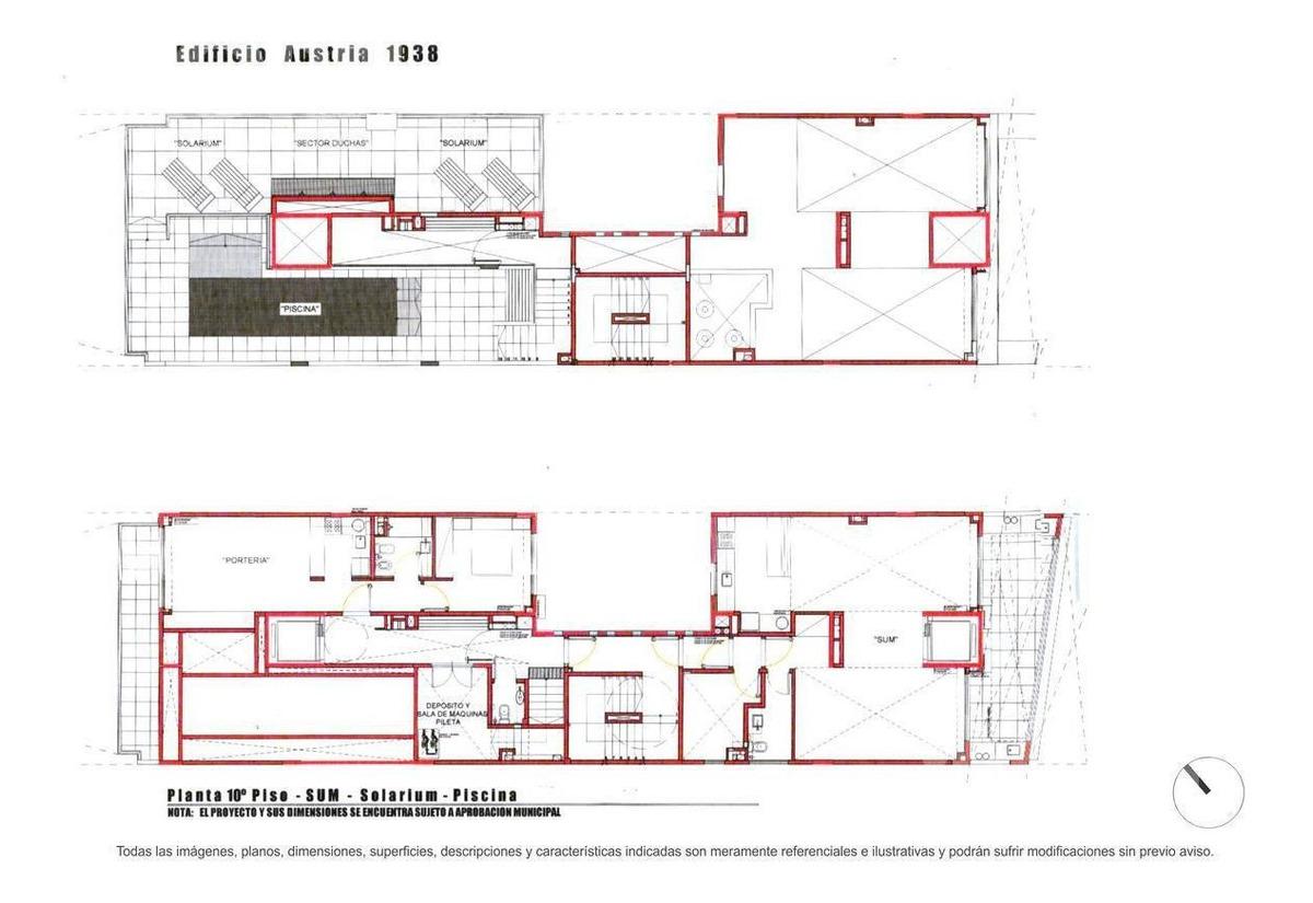 venta departamento de 2 ambientes en barrio norte - en construccion