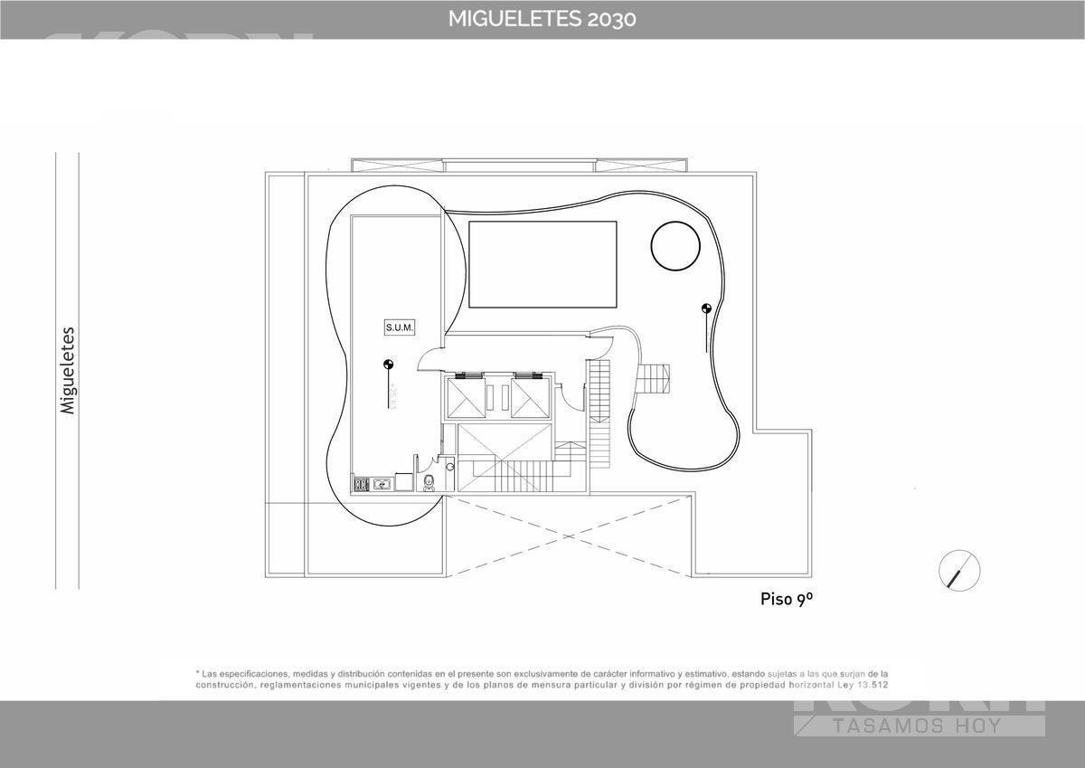 venta departamento de 2 ambientes en belgrano - en pozo
