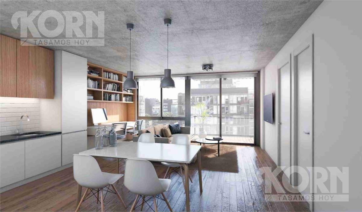 venta departamento de 2 ambientes en palermo hollywood - en construcción