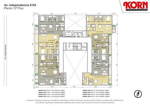 venta departamento de 3 ambientes con balcon en boedo - en construccion