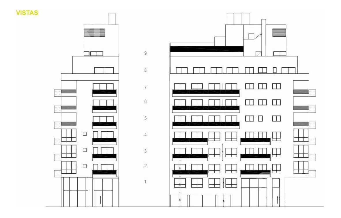 venta  departamento de 3 ambientes en villa crespo - en construccion