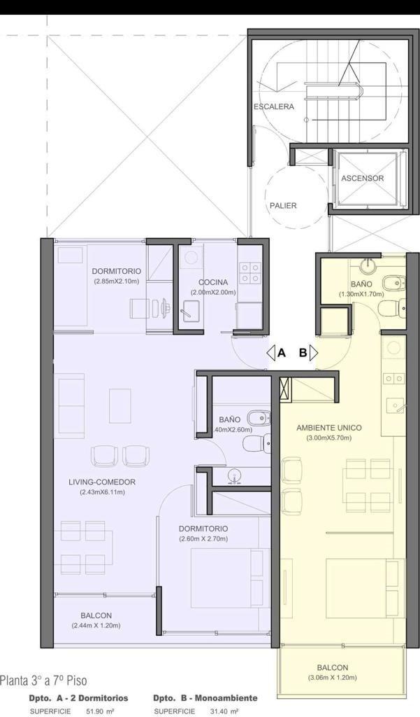 venta departamento dos dormitorios patio de la madera