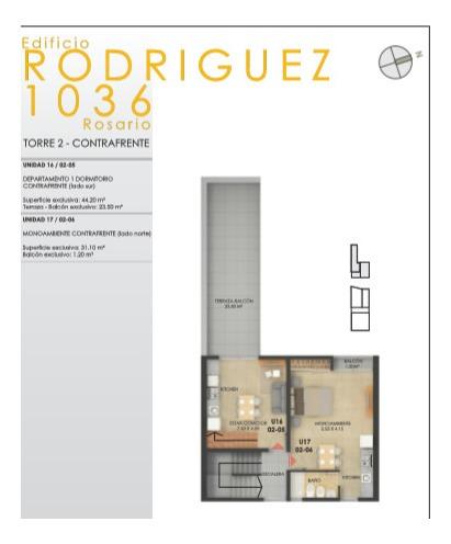 venta departamento dos dormitorios rodriguez 1000 julio2021