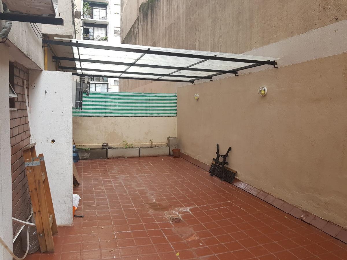 venta. departamento. recoleta. 2 ambientes. gran patio