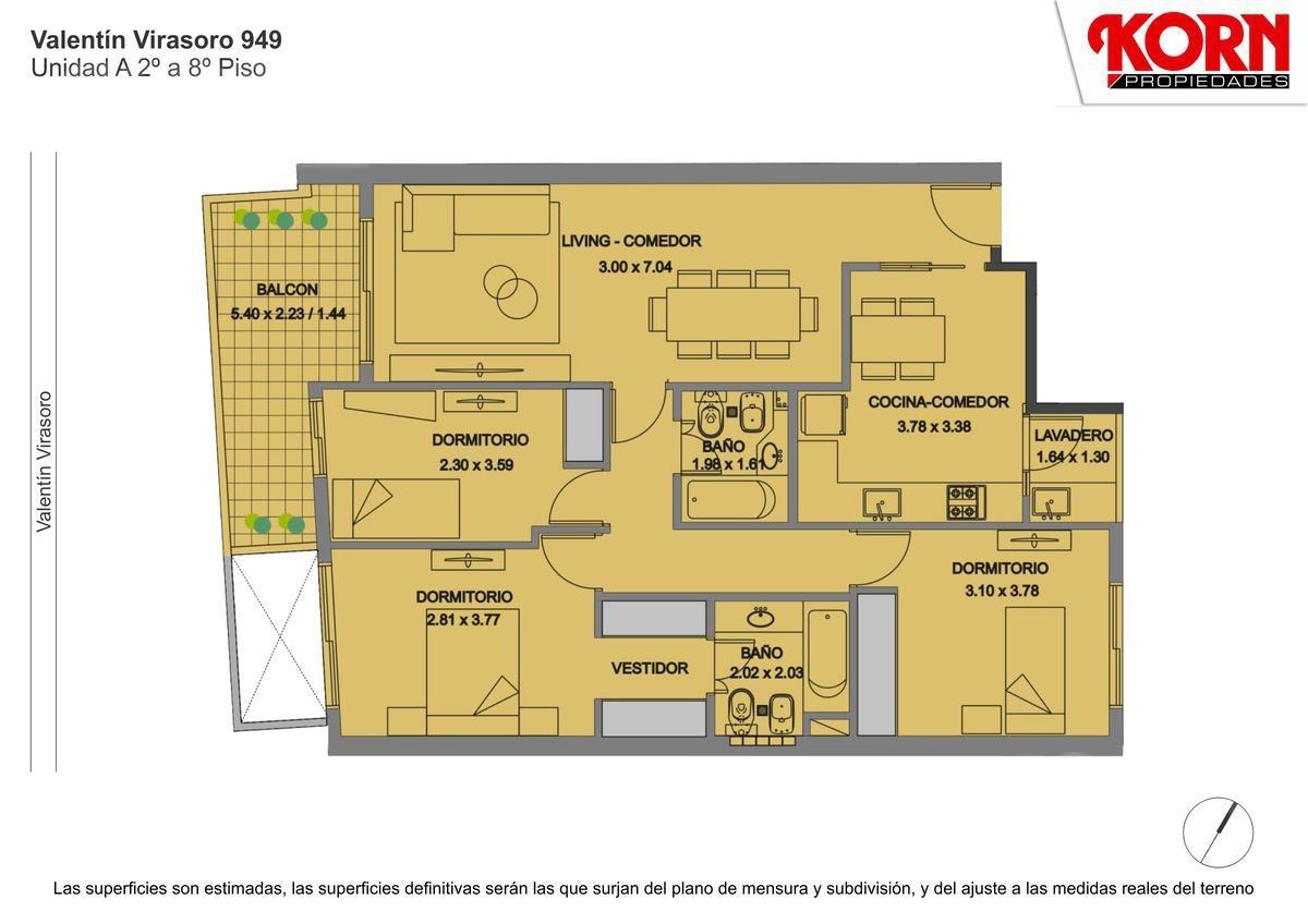 venta departamento semipiso de 4 ambientes con balcon aterrazado y patio en caballito - en pozo