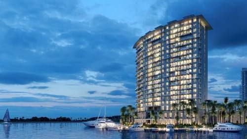 venta depto 2 rec torre aria puerto cancun