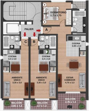 venta dpto un dormitorio santa fe y avellaneda  febrero 2020