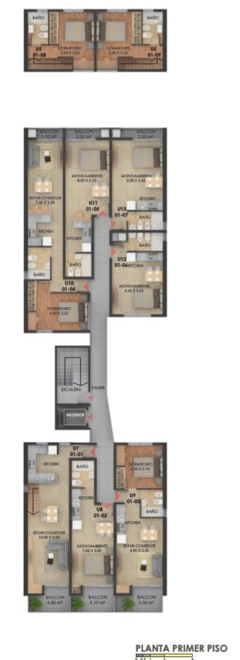 venta duplex un dormitorio castellanos 400  julio 2020