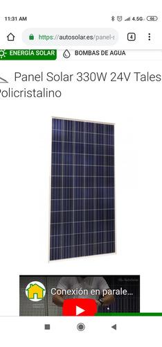 venta e instalación de paneles solares