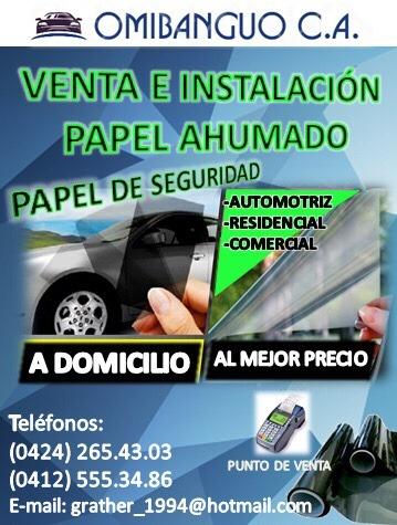 venta e instalación de papel ahumado