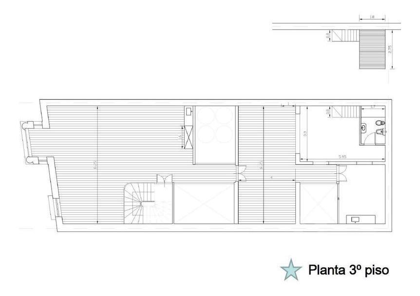 venta, edificio en block. reciclado! planos aprobados - barracas