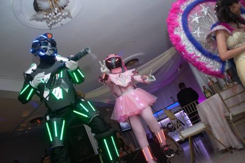 venta elaboracion de robot led trajes led pistolas co2