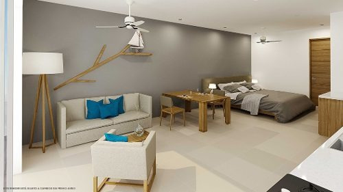venta estudios playa del carmen minimalista nuevo amueblado