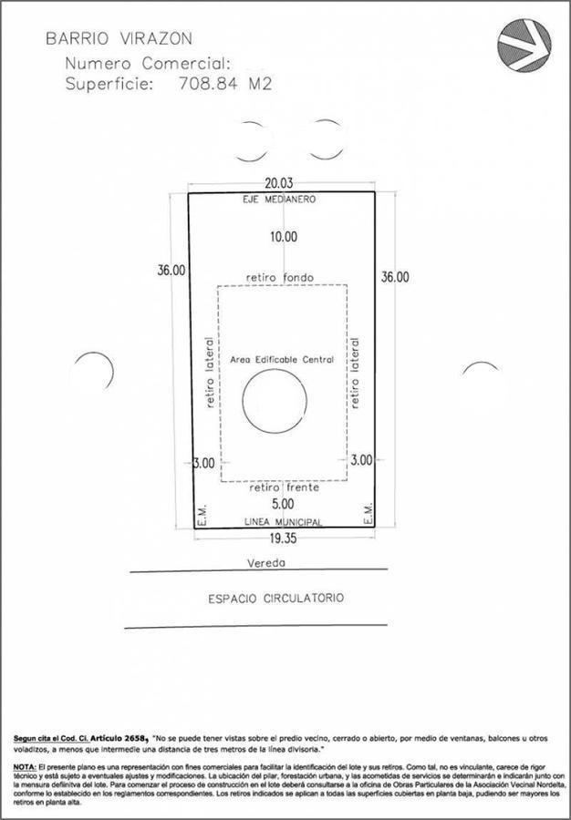 venta  excelente lote interno de 708 m2 ,  virazon, nordelta