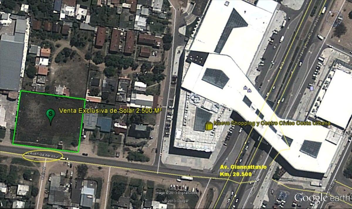 venta exclusiva solar 2.500 m², la mejor ubicacion comercial