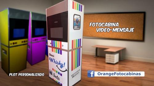 venta fotocabina completa + videomensaje + hashtag printer