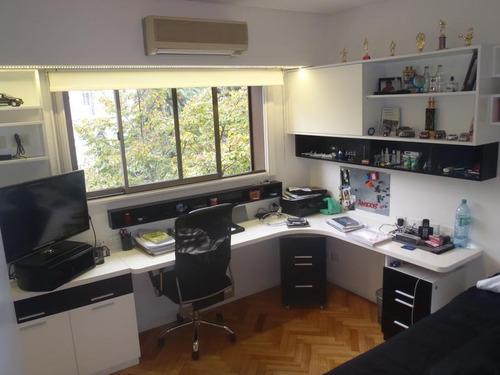 venta: hermoso piso de categoria !! 5 amb.     dep.  y cochera  a nuevo!!!
