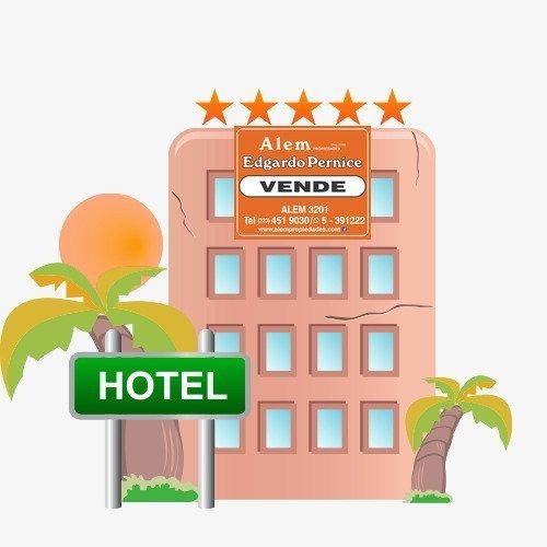 venta hotel ubicado en las heras esq brown. 54 habitaciones totales.