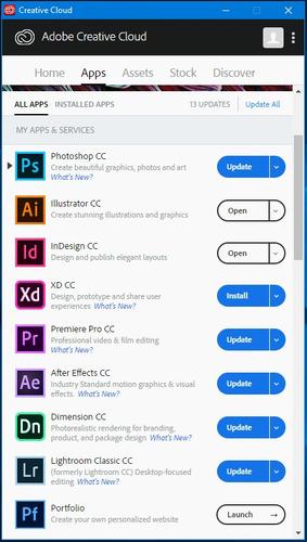 venta + instal suite adobe creative cloud cc 2019 2018 full