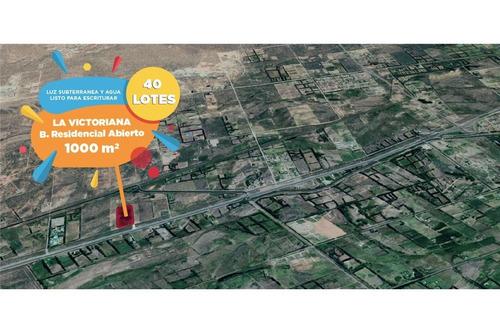 venta  la victoriana-terrenos 1000 m2-plottier