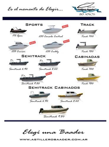 venta lancha tracker  baader track 700 especiales de trabajo