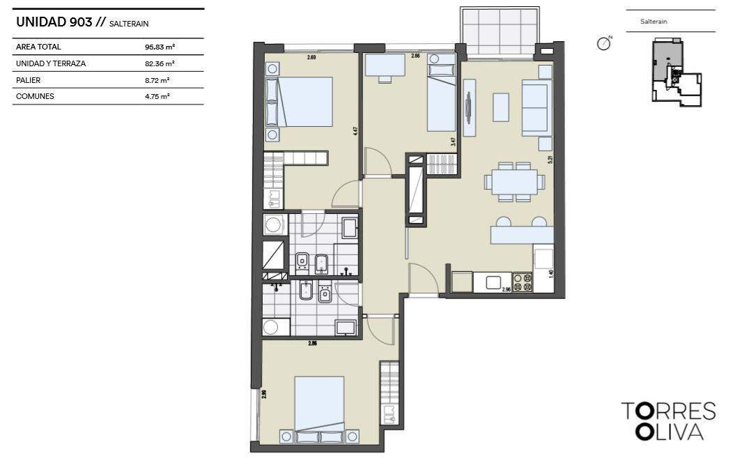 venta lanzamiento! apartamento, 3 dormitorios, cordón.