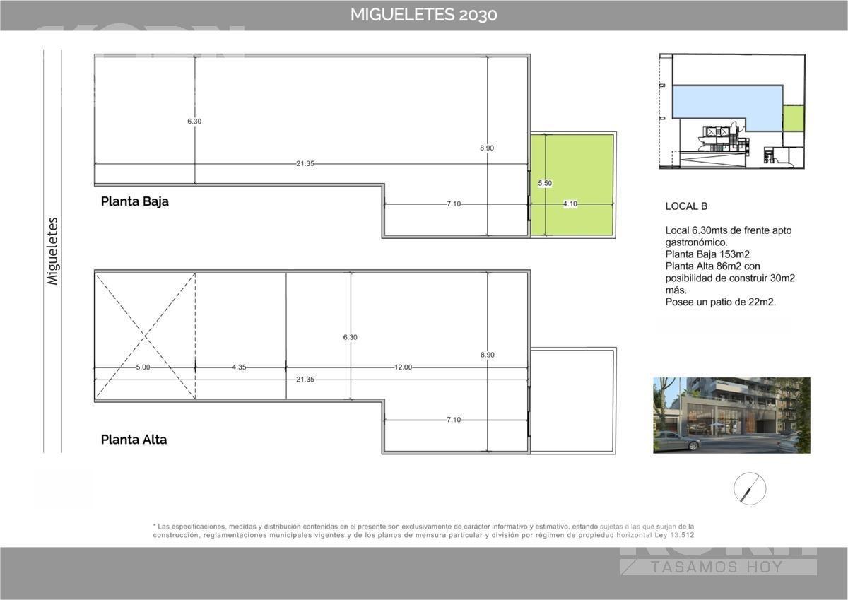 venta local de 2 plantas con patio en belgrano - pre-lanzamiento
