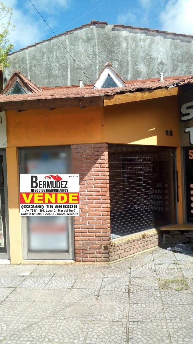 venta local en avenida principal de santa teresita