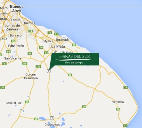 venta lote 1600m2 haras del sur en km69 ruta prov. 2