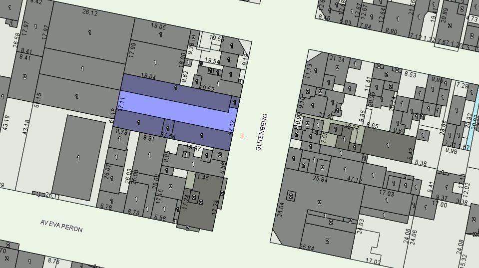 venta lote 654 m2 - gutemberg 780 - gazze