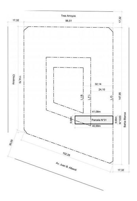 venta lote 8,66 x 41 vendibles 1.050 m2 floresta