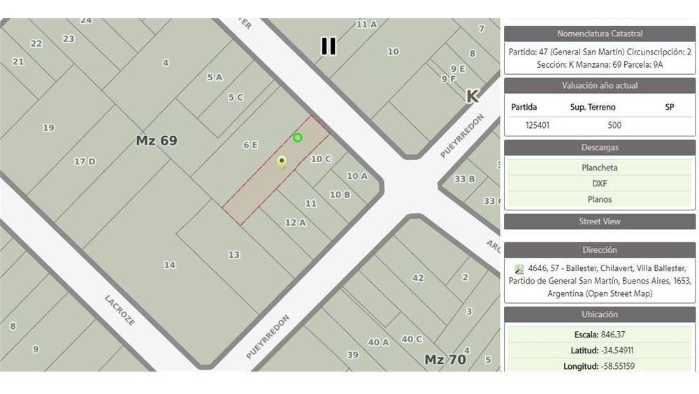 venta lote centro v. ballester 1800m2 edificables