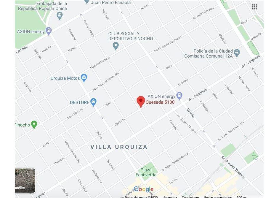venta lote doble frente villa urquiza- unico!