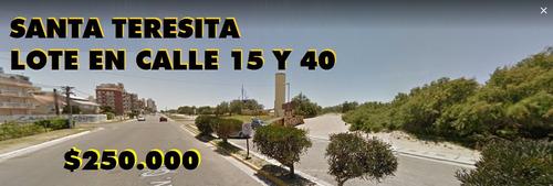 venta lote en santa teresita  - excelente ubicacion(cod.215)